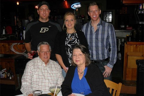 "Deanna with her parents and brothers ""The Lindahl family"""